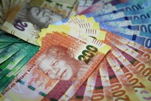 South African Rand Currency At First National Bank